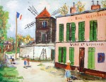 Rue À Sanois by Maurice Utrillo - collectible collotype fine art print