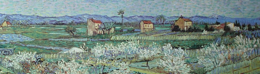 The Orchard by Vincent Van Gogh - offset lithograph fine art print