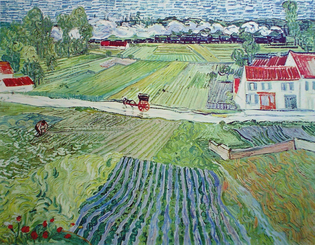 Landscape By Auvers After The Rain by Vincent Van Gogh - collectable collotype fine art print