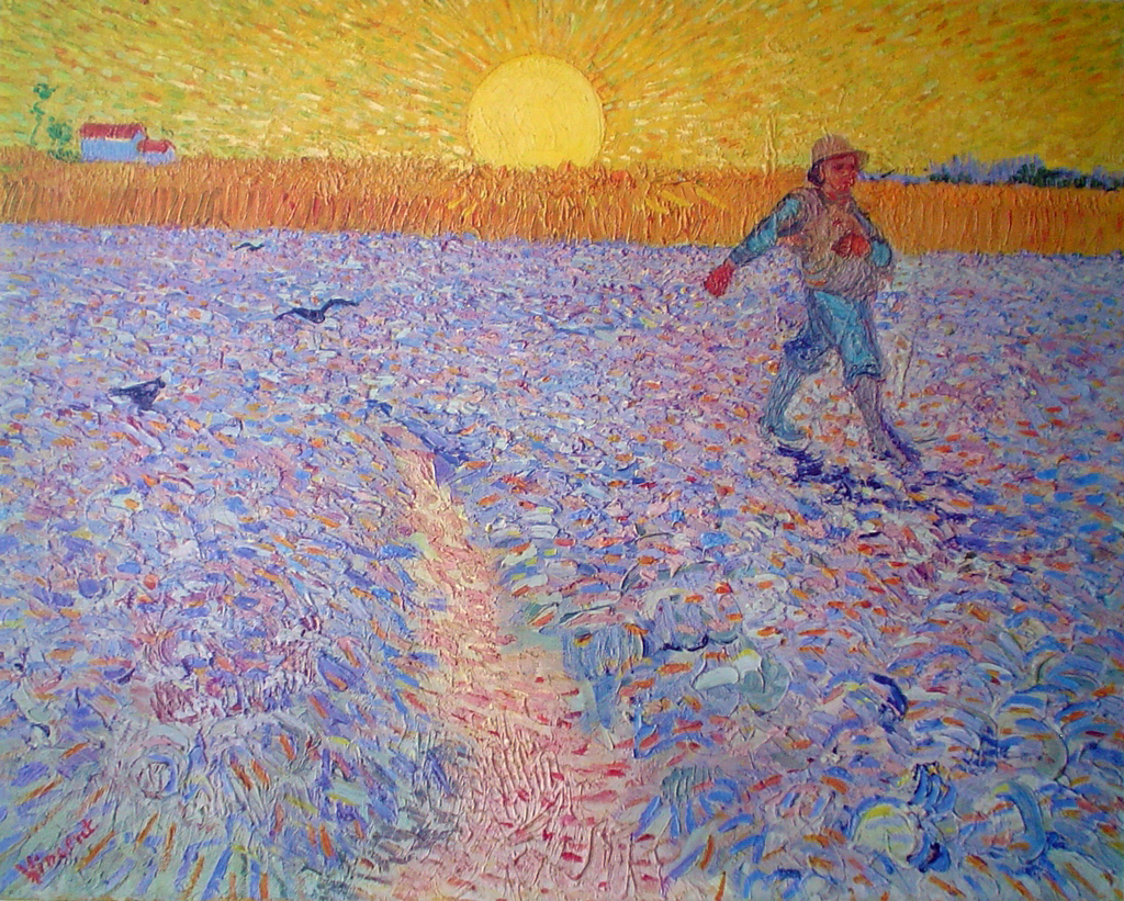 The Sower by Vincent Van Gogh - collectable collotype fine art print