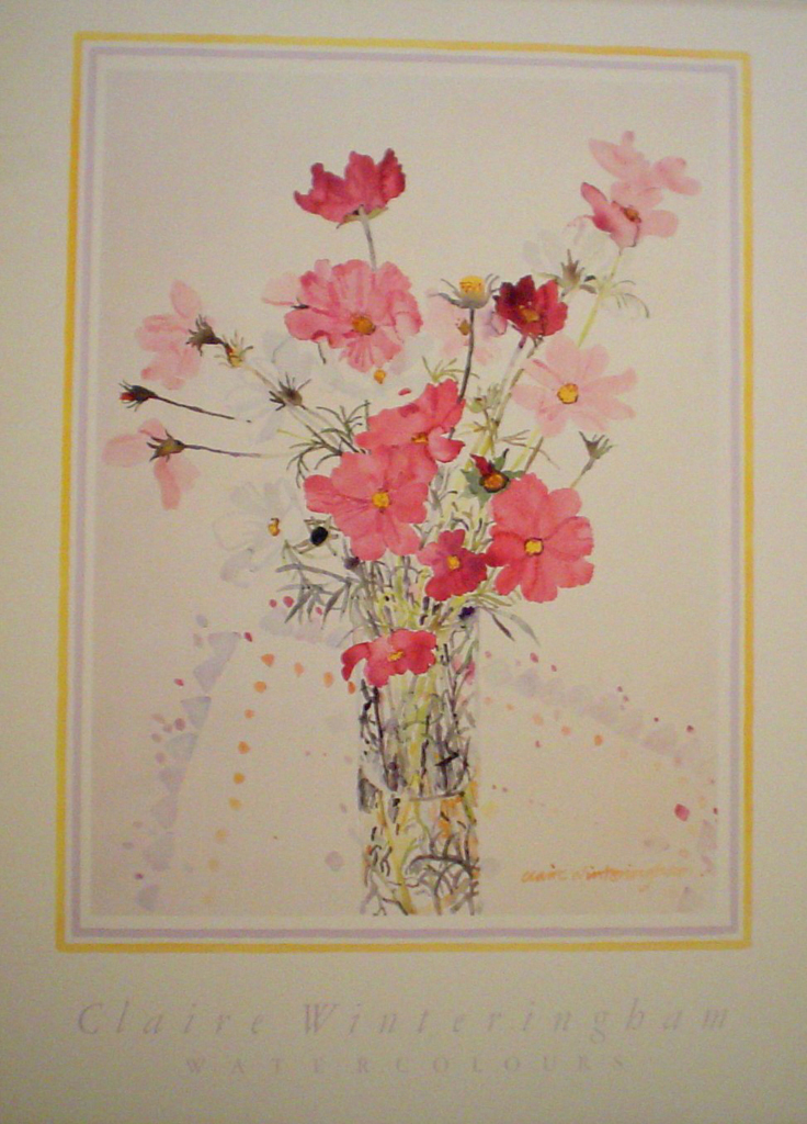 Floral Cosmia by Claire Winteringham - offset lithograph fine art poster print