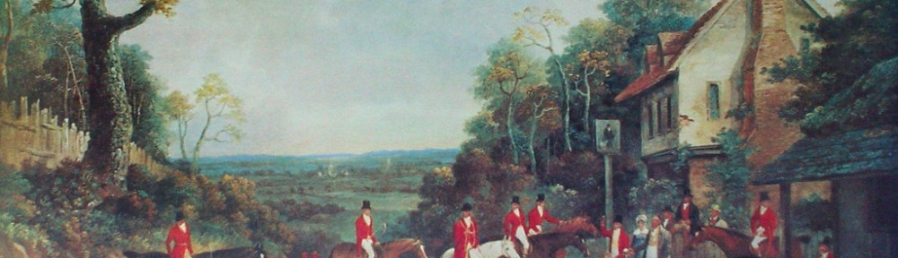 The Essex Hunt Near Epping by Dean Wolstenholme - offset lithograph fine art print
