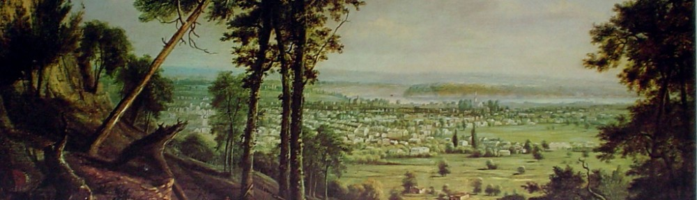 View Of Hamilton, 1853 by Robert Whale - offset lithograph fine art print