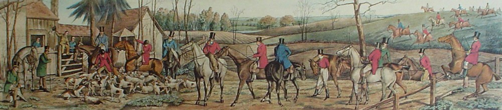 End Of The Hunt by Henry Alken - restrike etching, hand-coloured original print