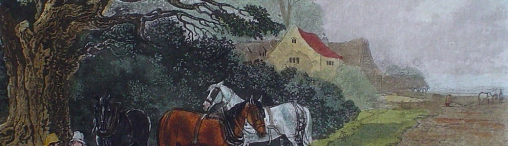 Spring by John Dearman - restrike etching, hand-coloured original print