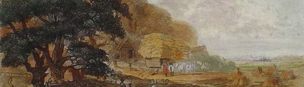 Autumn by John Dearman - restrike etching, hand-coloured original print