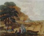 Autumn by John Dearman - restrike etching, hand-coloured original print