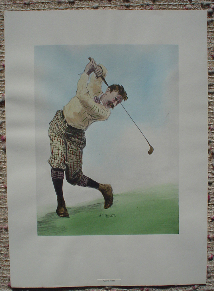 Good Form by A.B. (Arthur Burdett) Frost, shown with full margins - collectible collotype fine art print