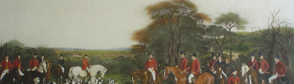 Sir Richard Sutton And The Quorn Hounds by Francis Grant - restrike etching, hand-coloured original print