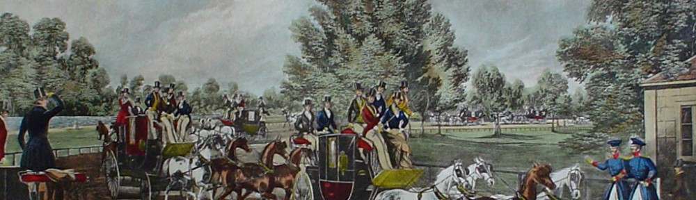 The Four In Hand Club by James Pollard - restrike etching, hand-coloured original print