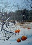 In The Pumpkin Field by Helen Rundell - original lithograph, signed