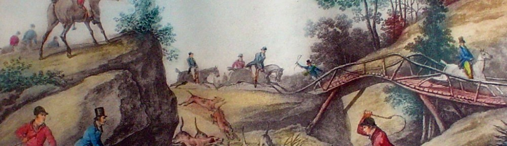 L'Hallali by Carle Vernet - restrike etching, hand-coloured original print