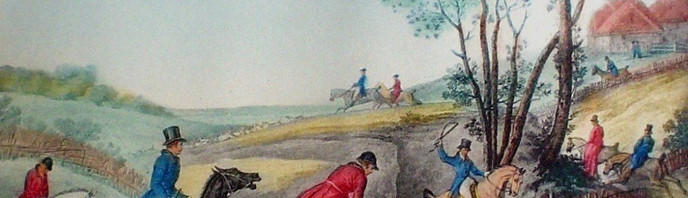 La Chasse by Carle Vernet - restrike etching, hand-coloured original print