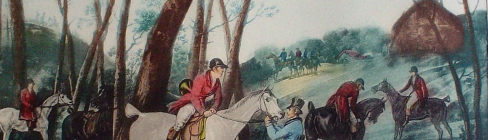 Le Rendez Vous by Carle Vernet - restrike etching, hand-coloured original print
