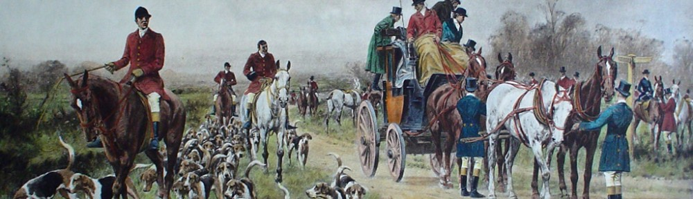 A Meet At The Crossroads by George Wright - restrike etching, hand-coloured original print
