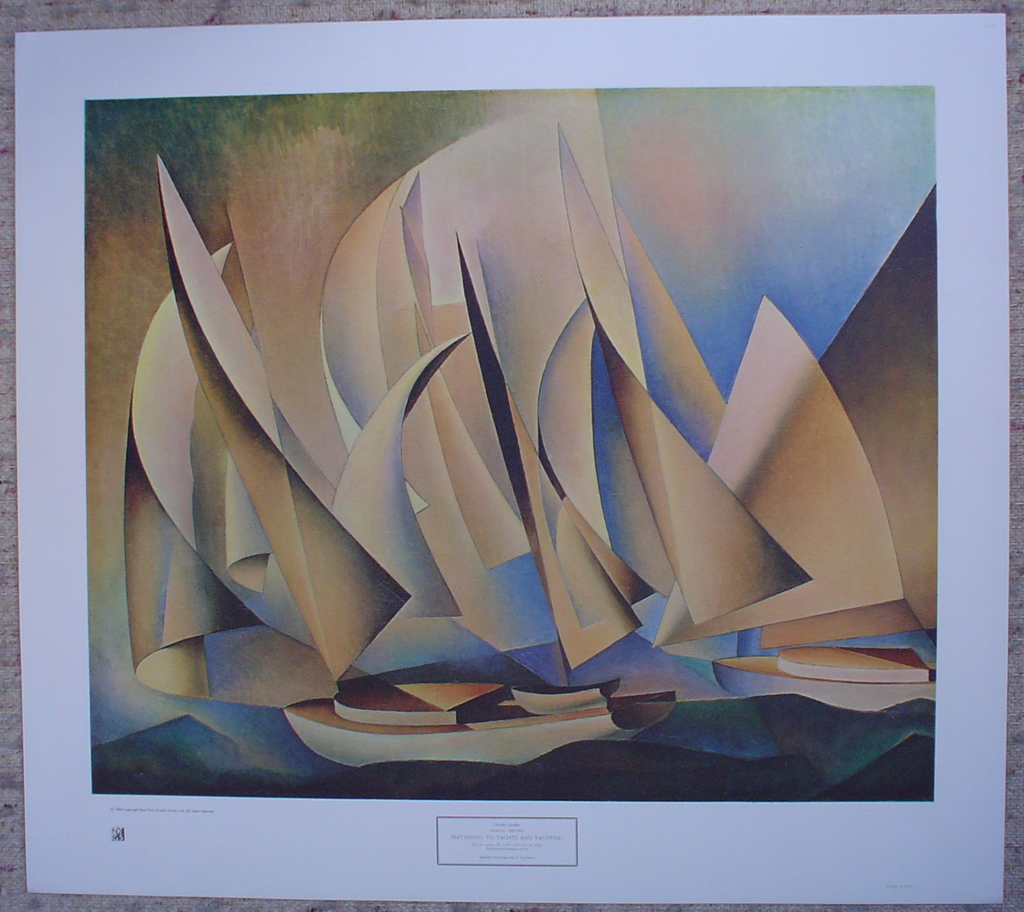 Pertaining To Yachts And Yachting by Charles Sheeler, shown with full margins - collectible collotype fine art print