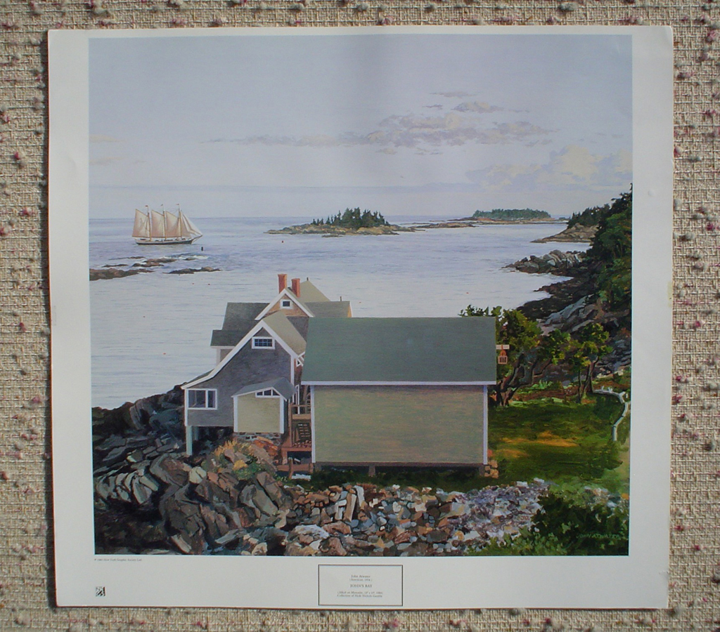 John's Bay by John Atwater, shown with full margins - offset lithograph fine art print