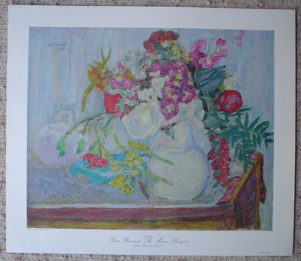 The Mauve Bouquet by Pierre Bonnard, shown with full margins - collectible collotype fine art print
