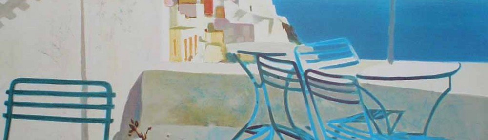 Terrasse Au Soleil/ Mediterranean View by George Blouin - original lithograph, signed and numbered 52/ 180