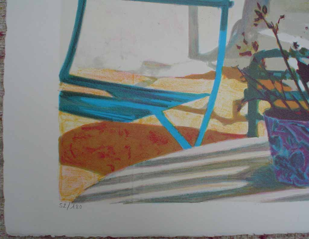 Terrasse Au Soleil/ Mediterranean View by George Blouin, edition detail - original lithograph, signed and numbered 52/ 180
