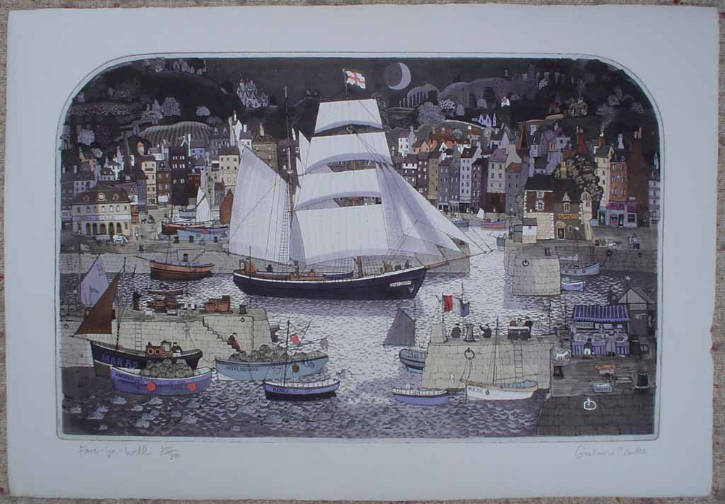 Fare-Ye-Well by Graham Clarke, shown with full margins - original etching, hand-coloured, signed and numbered 255/ 300