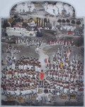 Waterloo Volunteers by Graham Clarke, History of England series, Portfolio Edition - original hand-coloured etching, signed and numbered 83/200