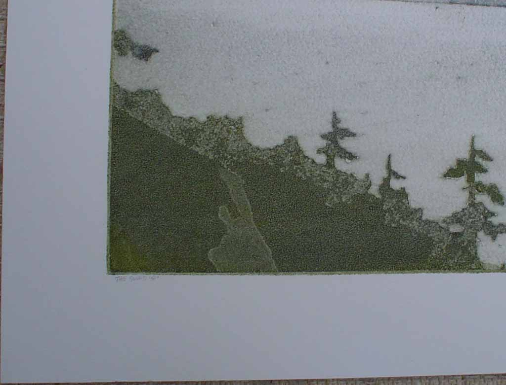 """The Sound """"A"""" by Doug Forsythe, title detail - original lithograph, signed and numbered 16/ 150"""