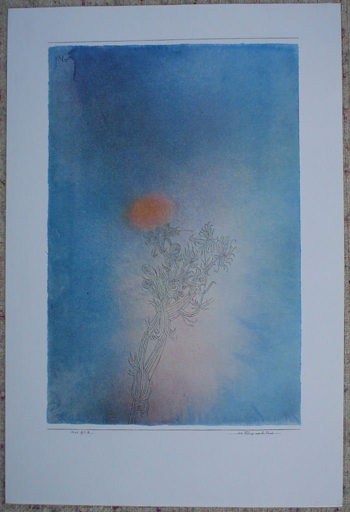 The Plant And Its Enemy / Die Pflanze Und Ihr Feind by Paul Klee, shown with full margins - collectible collotype fine art print