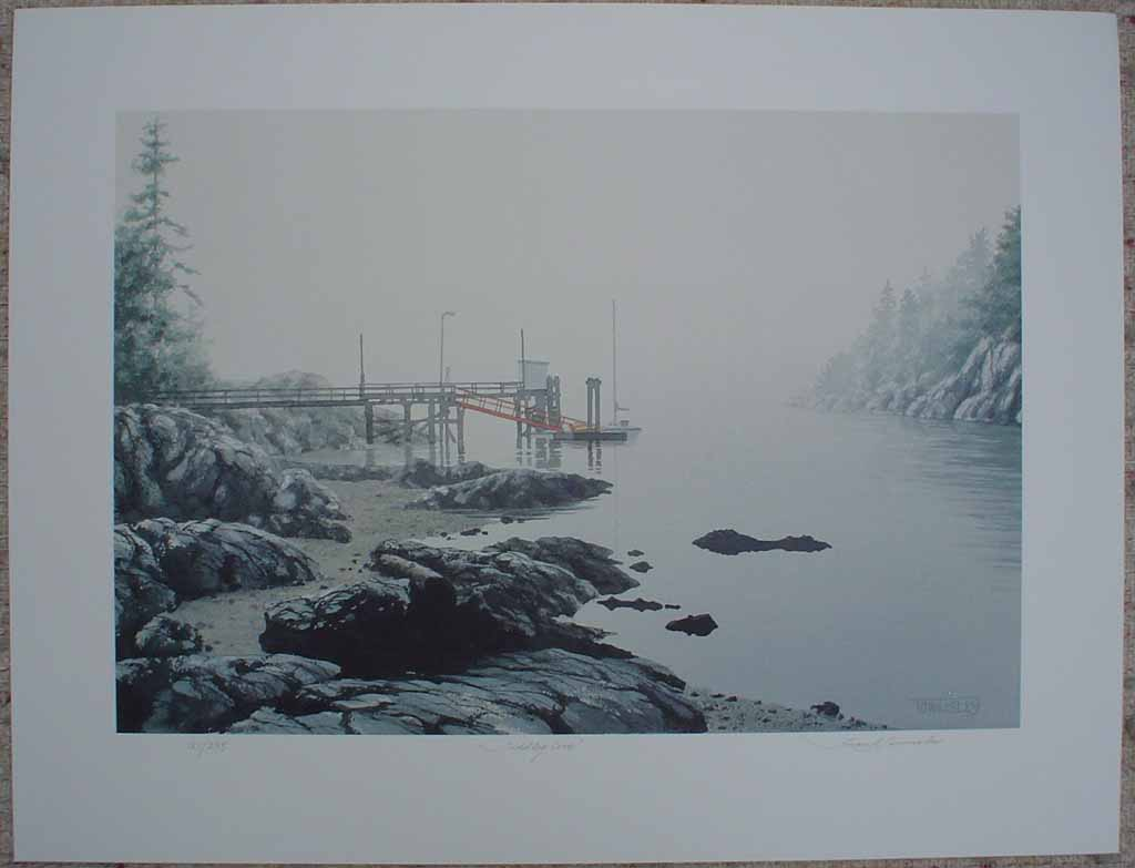 Tiddley Cove by Frank Townsley, shown with full margins - limited edition print, signed and numbered 121/ 295