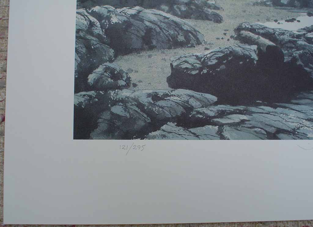 Tiddley Cove by Frank Townsley, edition detail - limited edition print, signed and numbered 121/ 295
