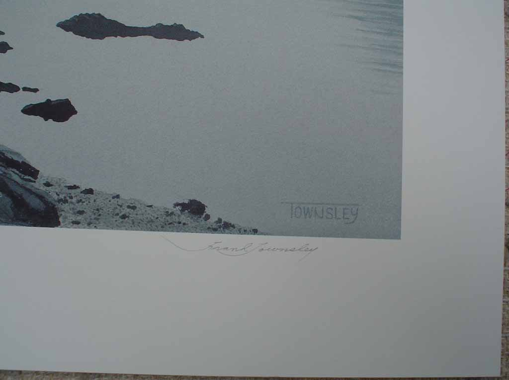 Tiddley Cove by Frank Townsley, signature detail - limited edition print, signed and numbered 121/ 295