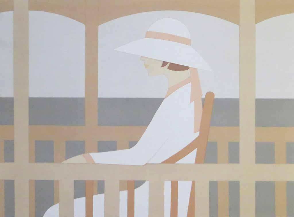 Solitude by Aldo Andreolo, Galerie Maghi Bettini Amsterdam - offset lithograph collectable vintage fine art poster print