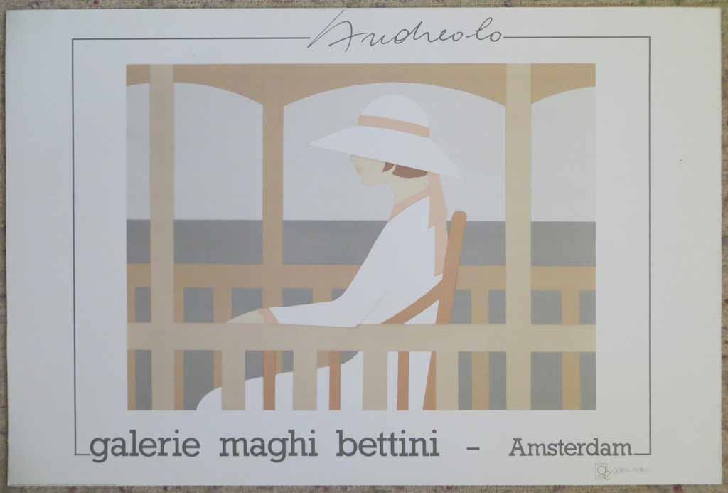 Solitude by Aldo Andreolo, Galerie Maghi Bettini Amsterdam, shown with full margins - offset lithograph collectable vintage fine art poster print
