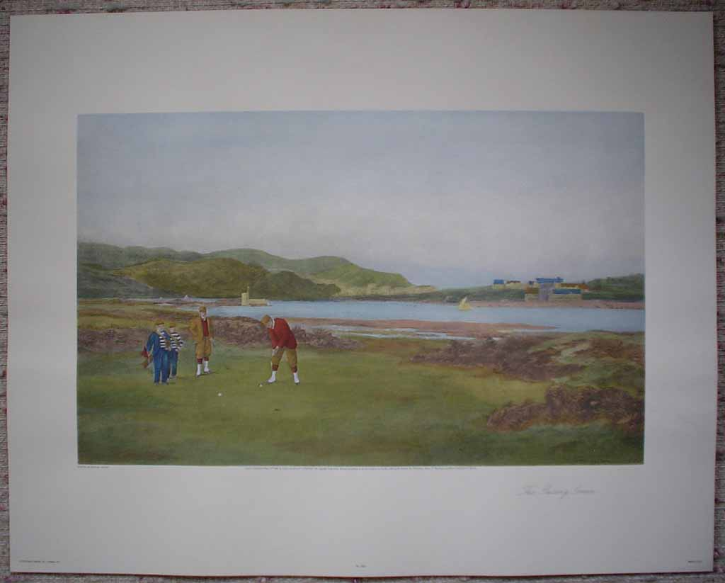 The Putting Green by Douglas Adams, shown with full margins - offset lithograph vintage fine art reproduction