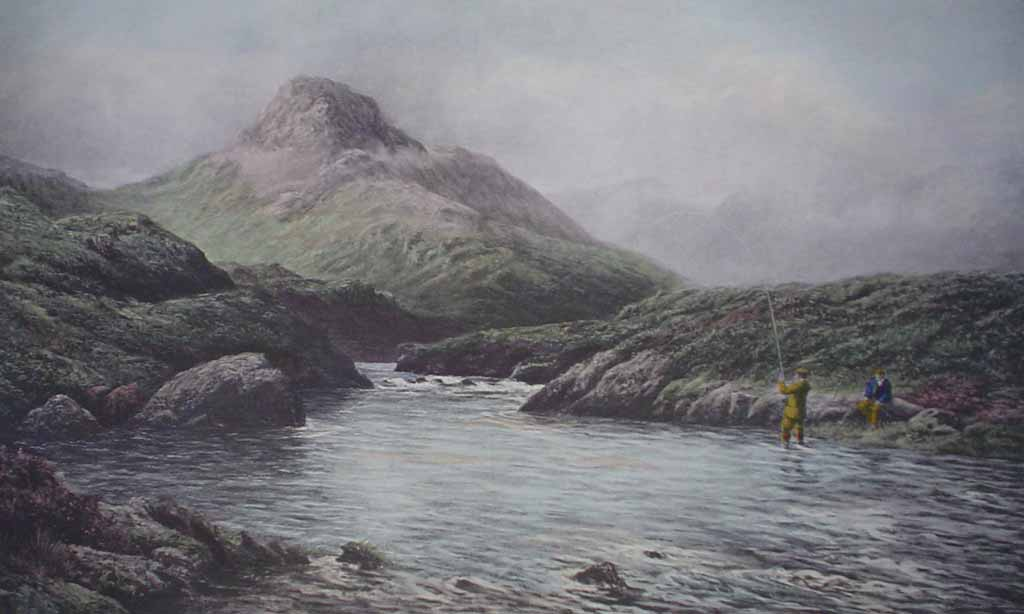 A Tight Line, Connemara by Douglas Adams - offset lithograph vintage fine art reproduction