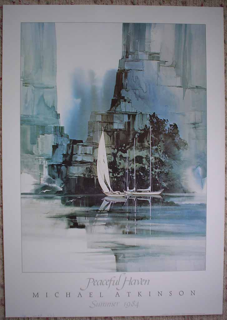 Peaceful Haven by Michael Atkinson, Summer 1984, shown with full margins - offset lithograph fine art poster print