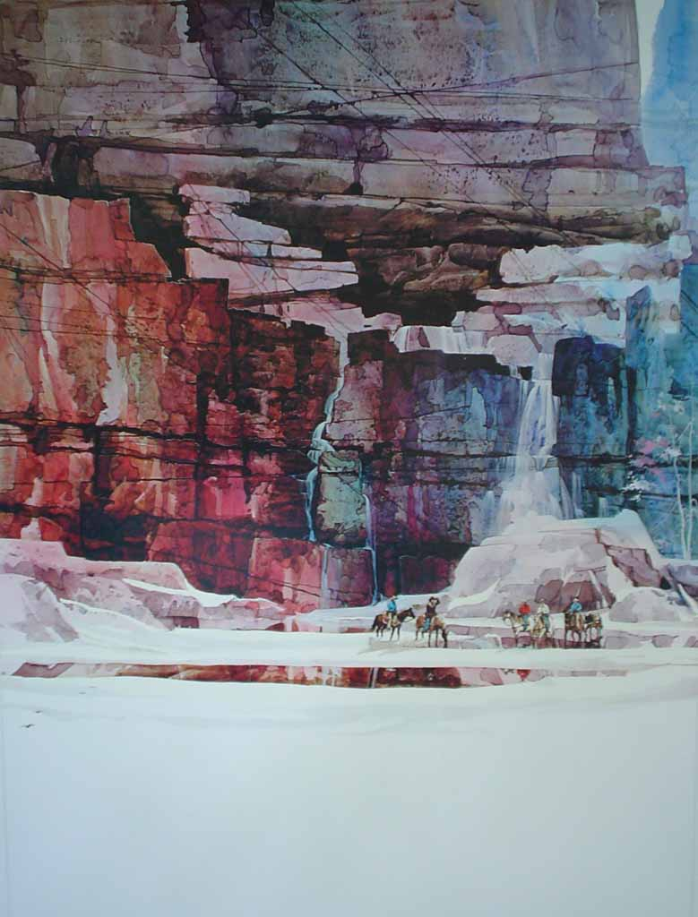 The Waterfall I by Michael Atkinson, Art Expo, shown with full margins - offset lithograph fine art poster print