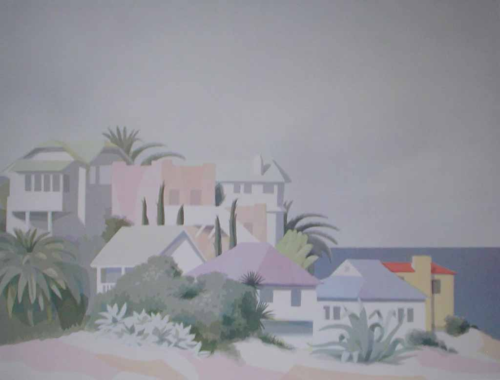 Works On Paper, Santa Catalina by William Buffett - offset lithograph vintage fine art poster print