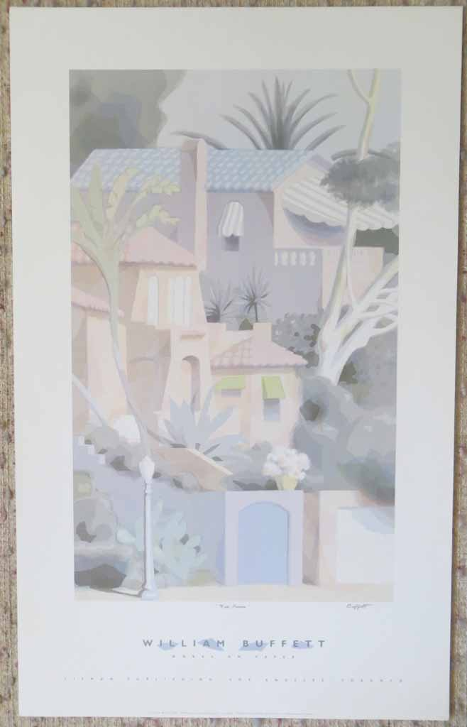 Works On Paper, Via Luisa by William Buffett, shown with full margins - offset lithograph vintage fine art poster print