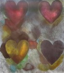 Flo-Master Hearts by Jim Dine, Baltimore Museum of Art 1983 - offset lithograph, collectible fine art poster
