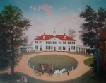Mount Vernon by Michel Delacroix - offset lithograph reproduction vintage fine art print