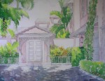 North Bay Road House by Elyse - offset lithograph vintage fine art print reproduction