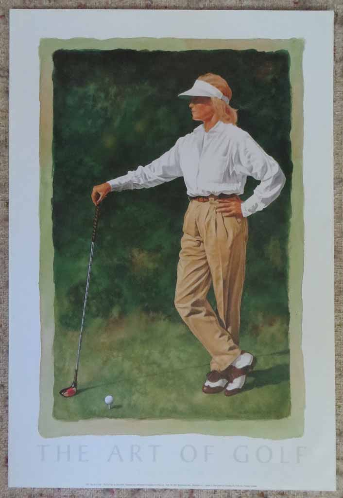 The Art Of Golf: The First Tee by Glen Green, shown with full margins - offset lithograph reproduction vintage fine art poster print