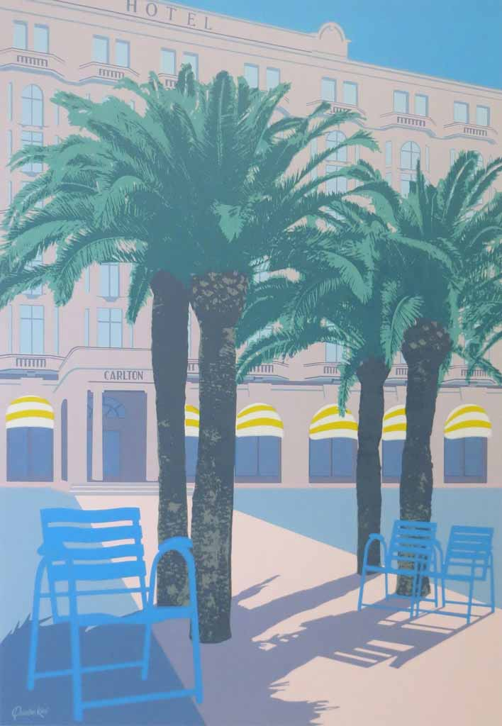 Cannes by Quentin King - original silkscreen fine art poster