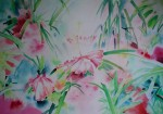 Hawaii Floral by Ruth Kjaer, published by Judith L. Posner Gallery - offset lithograph reproduction vintage poster art print