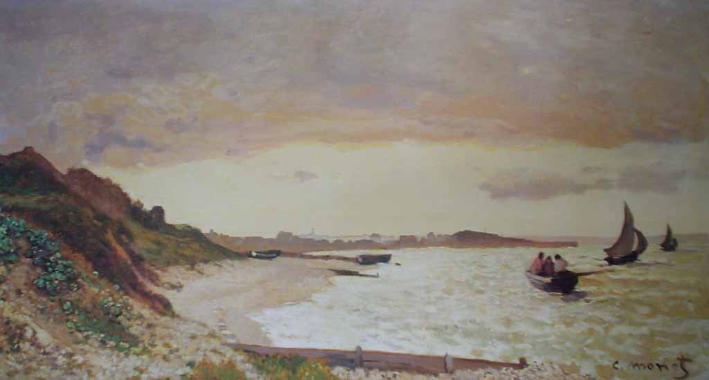 View Of The Coast At Le Havre by Claude Monet - offset lithograph reproduction fine art print