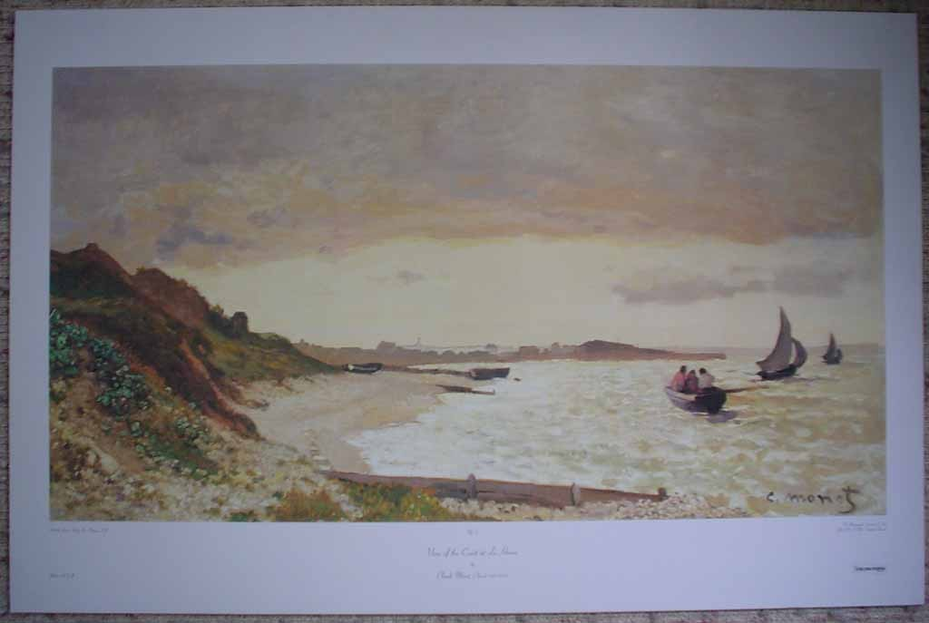 View Of The Coast At Le Havre by Claude Monet, shown with full margins - offset lithograph reproduction fine art print
