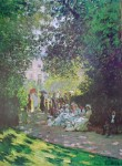 Parisians Enjoying The Park Monceau by Claude Monet, The Metropolitan Museum of Art - offset lithograph fine art poster