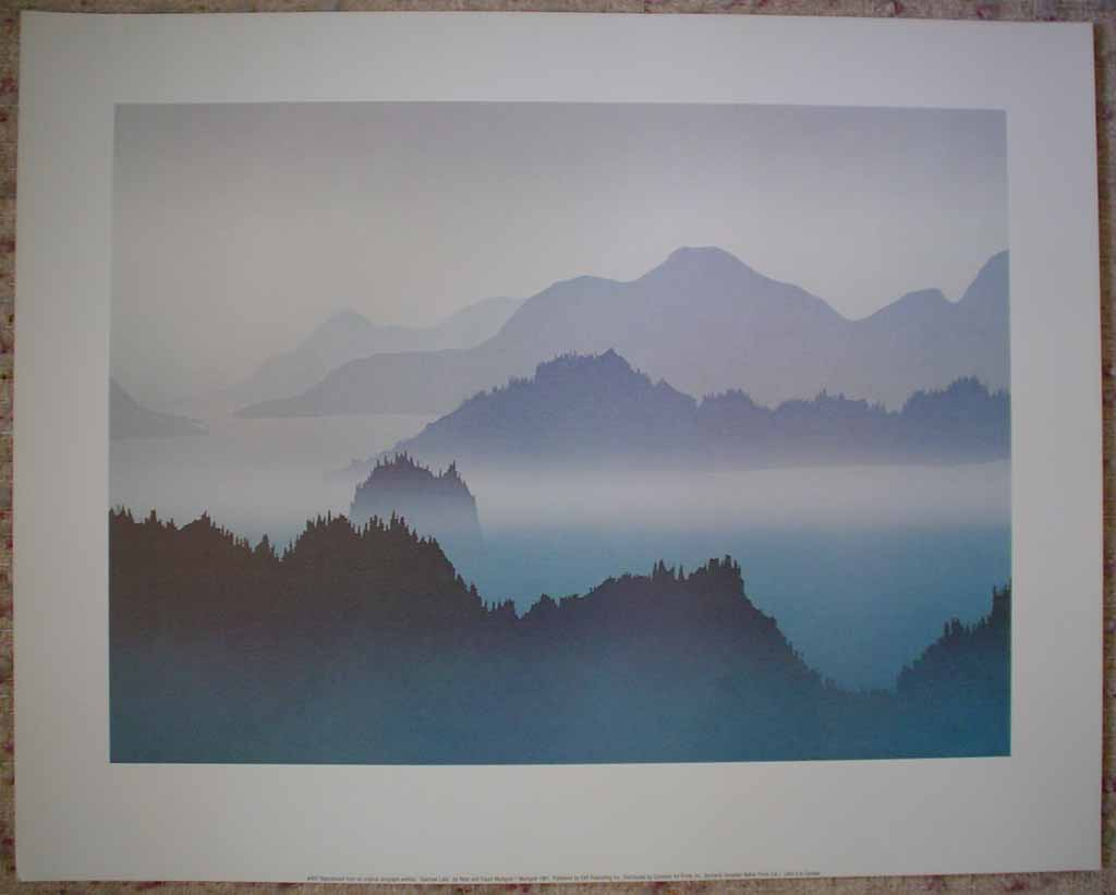 Sakinaw Lake by Peter and Traudl Markgraf, shown with full margins - offset lithograph vintage fine art print reproduction