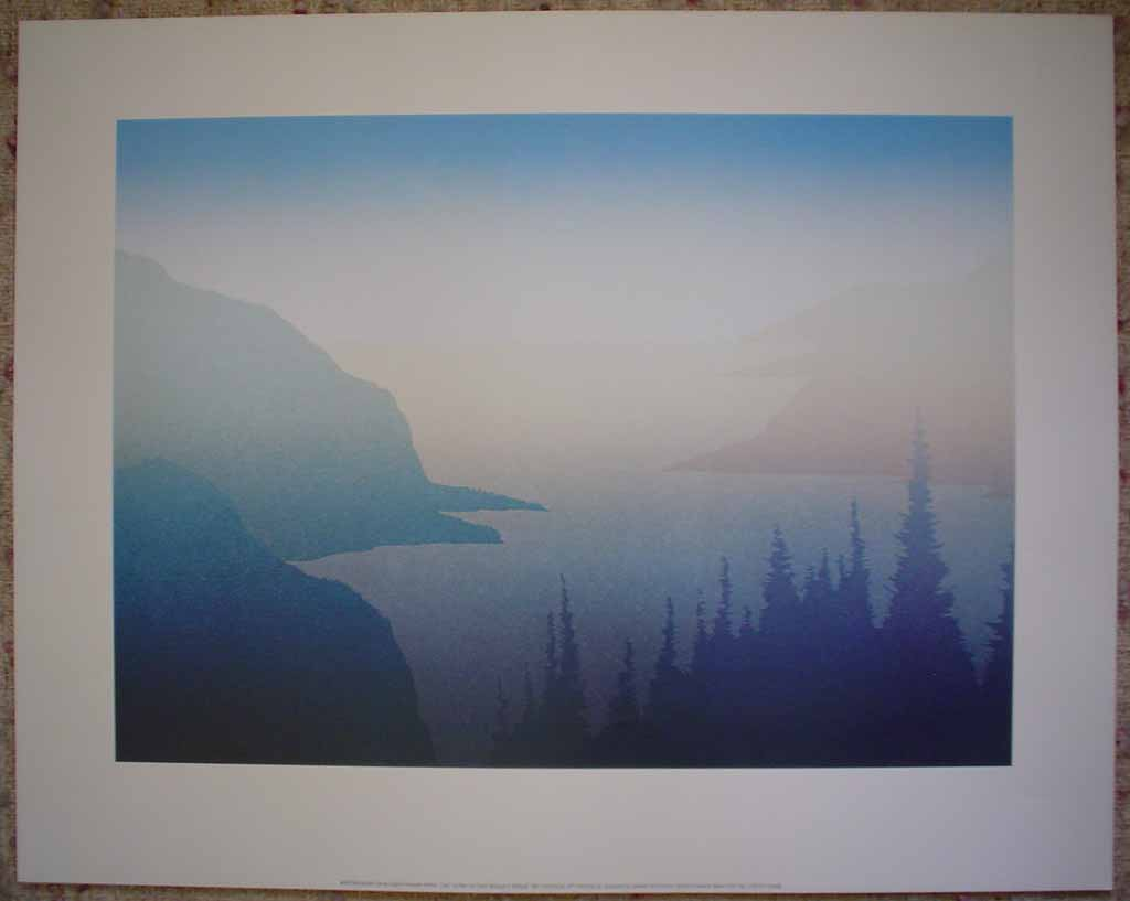 Cove by Peter and Traudl Markgraf, shown with full margins - offset lithograph vintage fine art print reproduction